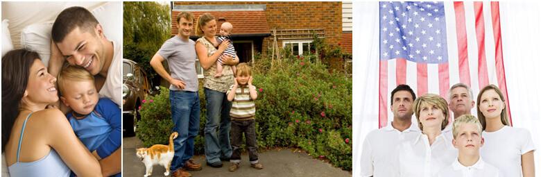VA loan happy family
