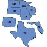 States we do VA loans, MN, WI, IA, SD, ND, CO, TX, FL